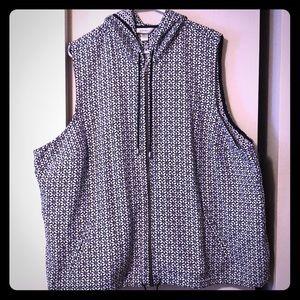 Zip vest with hood